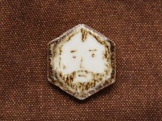さぶらひ 陶製ブローチ(六角)の画像