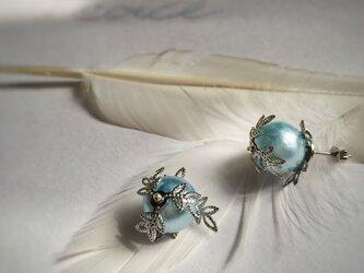 【noilmok】peace blue olive~水色オリーブのピアス~の画像