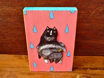 wood painting ★  two catsの画像