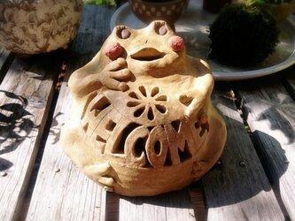 カエルのウェルカムランタンの画像