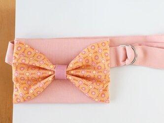 受注生産 リボンウエストポーチ-子供用- ピンクの画像