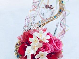 【プリザーブドフラワー/ガラスの靴シリーズ】恋するプリンセスの魔法の髪の画像