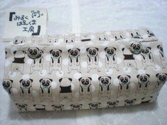 ティッシュカバー ぶちゃ犬 ベージュの画像