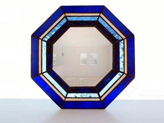 ステンドグラス八角ミラーの画像