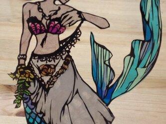 切り絵・人魚姫の画像