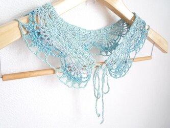 段染めのつけ襟:ブルーの画像
