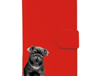 *パグ(犬)*選べる3色*iPhoneケース*の画像