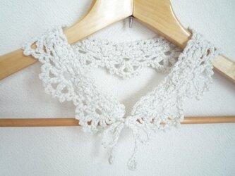 ホワイトラメのつけ襟の画像