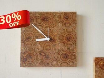 木の壁掛け時計/No.6 スギの画像