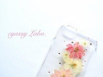 lovely(千鳥草ピンク)押し花スマートフォンケースの画像