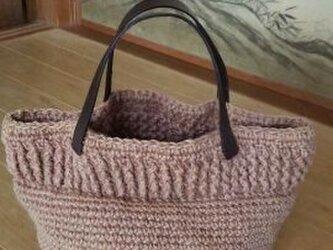 草木染め*手編み*ぶどうの麻バッグの画像