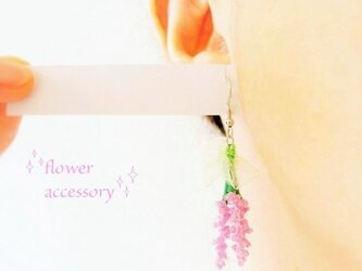 ピアス☆ラベンダーの花束の画像