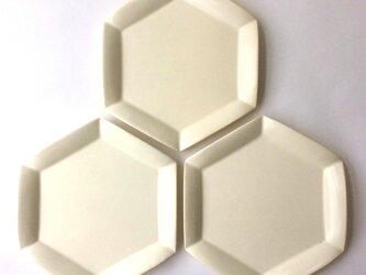 六角花皿 (大)の画像
