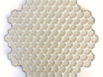 蜂の巣黒皿(大)の画像