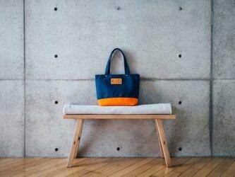 倉敷帆布製トートバッグ(オレンジ)の画像