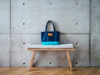 倉敷帆布製トートバッグ(ブルー)の画像