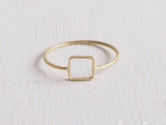 【再販】- Brass - Square Ringの画像