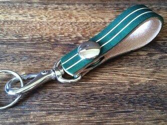 【迷子なし!】鍵を見つけやすいカラフルキーホルダー【グリーン】の画像