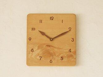 掛け時計 ぶな材①の画像