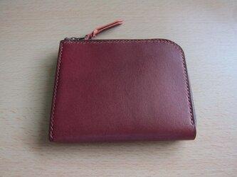 L字ファスナー財布(ワイン)の画像