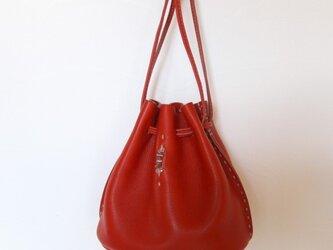 ドローストリングバッグ Sサイズ 赤の画像