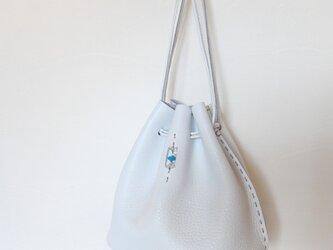 ドローストリングバッグ Mサイズ 白の画像