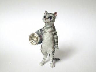 紙のいきもの ねこ缶 ミニチュアの画像