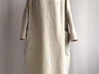 ころんとしたTドレス 紬調サンドベージュの画像