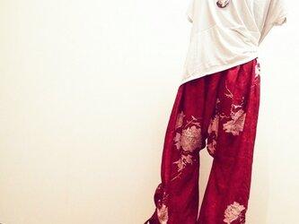 着物リメイク♪ ロングパンツの画像
