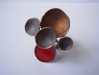 Ring -bronze, enamel #001の画像