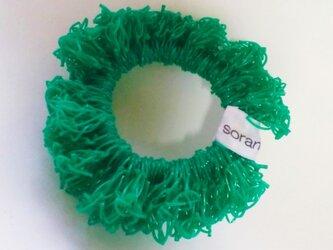 juicy nylon シュシュ greenの画像