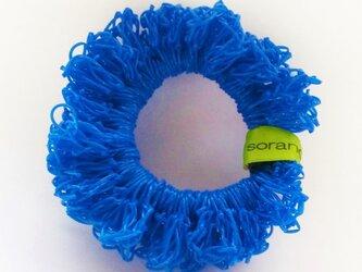 juicy nylon シュシュ blueの画像