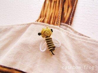 水引 ミツバチ ブローチの画像