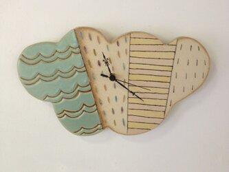 くも型陶製時計の画像
