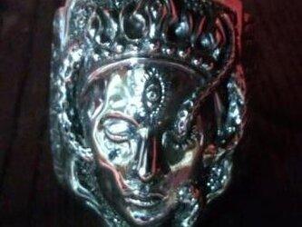 悲しみの鬼王妃 鏡面 シルバーリングの画像