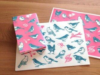 切り絵の小鳥紙の画像