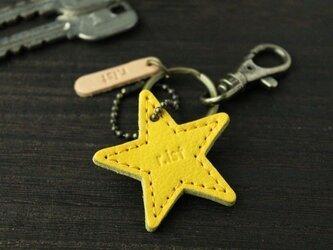 牛革の星型キーホルダー♯全6色【郵便送料無料サービス】の画像