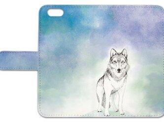 *オオカミの選べる3色*iPhoneケース*の画像