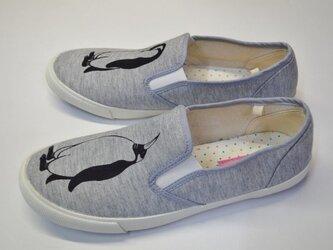 ペンギンスリッポン、シューズ、スウェット素材、靴、オリジナルの画像