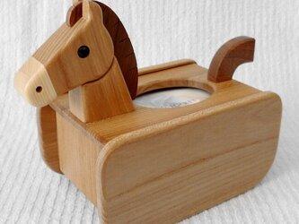 馬のポケットティッシュ収納BOXの画像