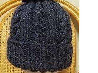 いよいよシーズン☆ケーブル模様のニット帽の画像