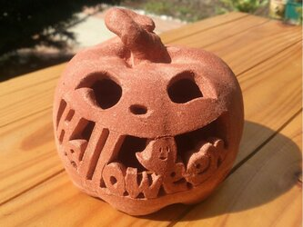 Φ約10cm「おばけ+Halloween」ハロウィンランタンの画像