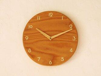掛け時計 丸 けやき材②の画像