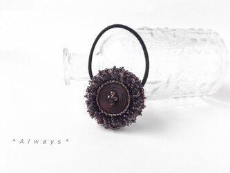 Grape flower ヘアゴムの画像