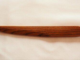 ペーパーナイフ 欅(ケヤキ)漆塗り 和刀タイプAの画像