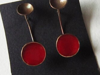 Pierced earrings -brass #009-3の画像