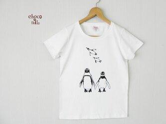 妄想 双子ペンギンTシャツ(白)の画像
