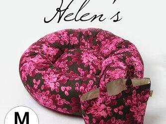 おしゃれペットベッド ピンクの花びら ミニトートバッグ付きの画像