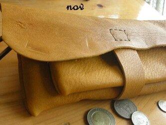 nov*ナチュラル牛革長財布の画像