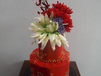 中華花布 おむつケーキの画像